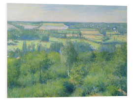 Foam board print  The valley of Yerres - Gustave Caillebotte