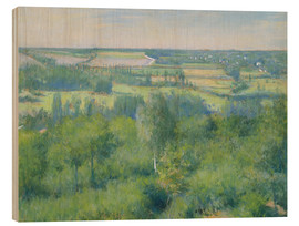 Wood print  The valley of Yerres - Gustave Caillebotte