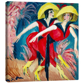 Canvas print  Two red dancers - Ernst Ludwig Kirchner
