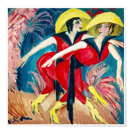 Premium poster Two red dancers