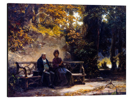 Carl Spitzweg - The couple on the bench