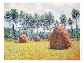 Premium poster  Haystacks at Giverny - Claude Monet