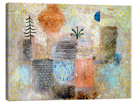 Canvas print  Park with the cool half-moon - Paul Klee