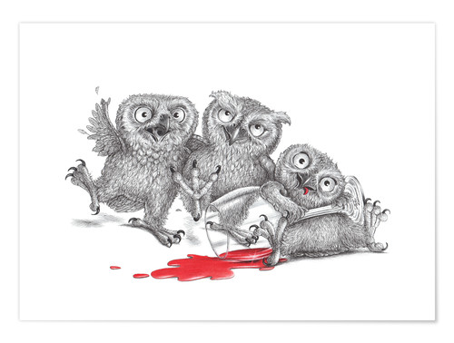 Poster Party  - Tipsy Owls