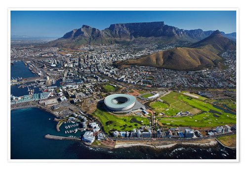 Premium poster Aerial view of Cape Town Stadium