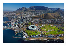 Premium poster Cape Town Stadium and Table Mountain