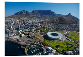 Foam board print  Cape Town Stadium and Table Mountain - David Wall