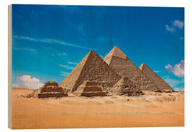 Wood  Pyramids of Giza - Miva Stock