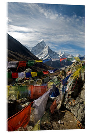 Acrylic print  Prayer flags and Ama Dablam - David Noyes