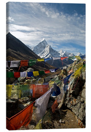 Canvas  Prayer flags and the Ama Dablam - David Noyes