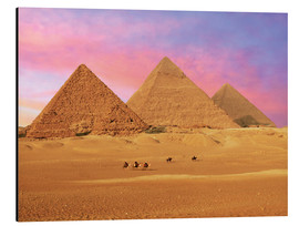 Alu-Dibond  Giza Pyramids at sunset - Miva Stock