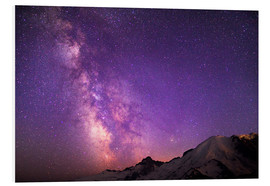 Foam board print  Milky way at the violet sky - Gary Luhm