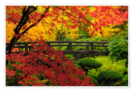 Premium poster Bridge in the Japanese garden