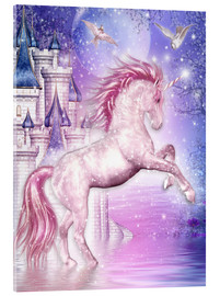 Acrylic glass  Pink Magic Unicorn - Dolphins DreamDesign