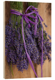 Wood print  Bunch of lavender to dry in the shed - John & Lisa Merrill