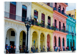 Acrylic glass  Pastel-colored building in Havana - Bill Bachmann