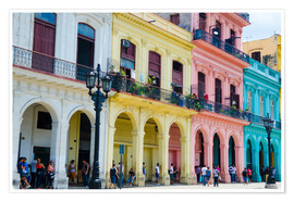 Premium poster Colorful facades in Havana