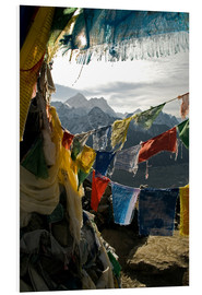 Foam board print  Prayer flags on the Gokyo Ri - David Noyes