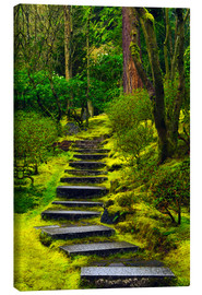 Canvas  Stairs in Japanese Garden - Michel Hersen