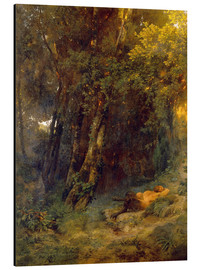 Aluminium print  Forest landscape with resting pan - Arnold Böcklin