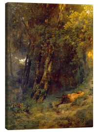 Canvas print  Forest landscape with resting pan - Arnold Böcklin