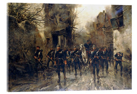 Acrylic print  The second Imperial Prussian Footgarde reached Paris - Hermanus Willem Koekkoek
