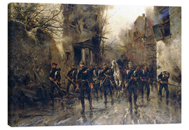 Canvas print  The second Imperial Prussian Footgarde reached Paris - Hermanus Willem Koekkoek