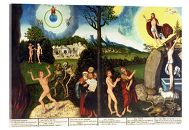 Acrylic print  Fall and redemption of man - Lucas Cranach d.Ä.
