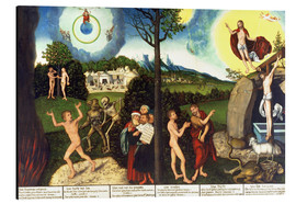 Alu-Dibond  Fall and redemption of man - Lucas Cranach d.Ä.