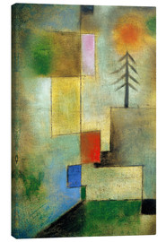 Canvas  Small pine image - Paul Klee
