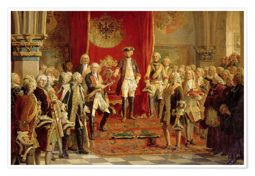 Premium poster The Silesian estates homage to Frederick the Great in Wroclaw