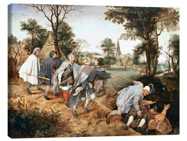 Canvas  The parable of the blind - Pieter Brueghel d.Ä.