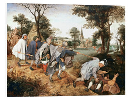Foam board print  The parable of the blind - Pieter Brueghel d.Ä.