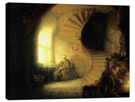 Canvas print  Meditating philosopher - Rembrandt van Rijn