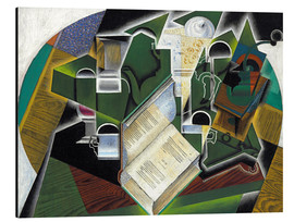 Alu-Dibond  Still life with a book and glasses - Juan Gris