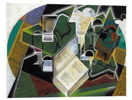 Foam board print  Still life with a book and glasses - Juan Gris