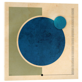 Acrylic print  Earth And Moon Graphic - Phil Perkins