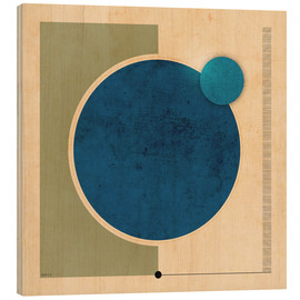 Wood print  Earth And Moon Graphic - Phil Perkins