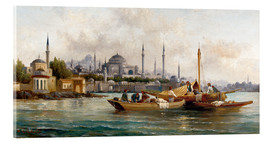 Acrylic print  Merchant vessels in front of Hagia Sophia, Istanbul - Anton Schoth