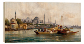 Wood  Merchant vessels in front of Hagia Sophia, Istanbul - Anton Schoth