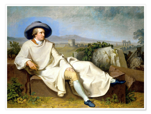 Premium poster Goethe in the Roman Campagna