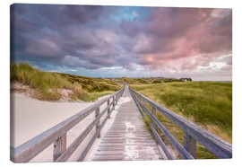 Canvas print  Towards Sturmhaube (Kampen/Sylt) - Dirk Wiemer