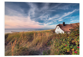 Foam board print  House beside the sea (Ahrenshoop/Darss) - Dirk Wiemer