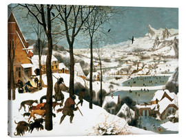 Canvas print  Hunters in the snow - Pieter Brueghel d.Ä.
