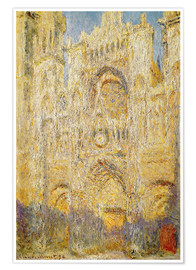 Premium poster Rouen Cathedral, at noon