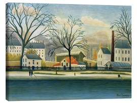 Canvas print  Suburb on the banks of the Marne - Henri Rousseau