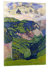 Foam board print  Jungfrau mountain, seen from Isenfluh - Ferdinand Hodler