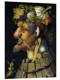 Foam board print  The Autumn - Giuseppe Arcimboldo