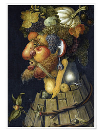 Poster  The Autumn - Giuseppe Arcimboldo