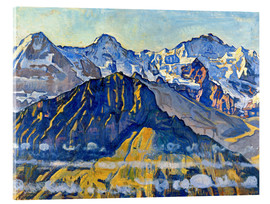 Acrylic glass  Eiger, Mönch and Jungfrau in the sun - Ferdinand Hodler